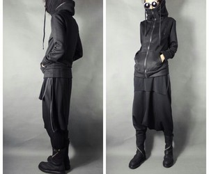 clothes, fashion, and goth ninja image
