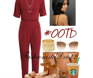burgundy, fashion, and jumpsuit image