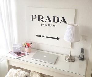 Prada, desk, and room image