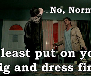 funny, knife, and norman bates image