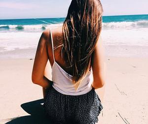 girl, beach, and beautiful image