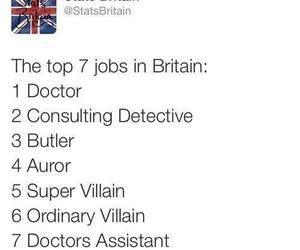 britain, doctor who, and harry potter image