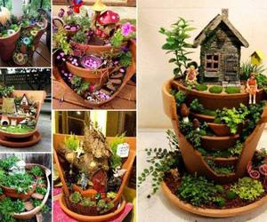 broken, fairy garden, and ideas image