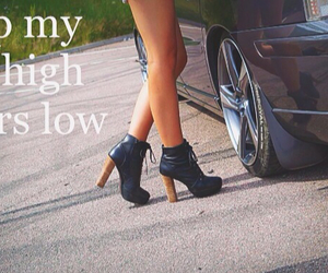 car, highheels, and carchick image