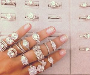 diamond, rings, and jewelry image