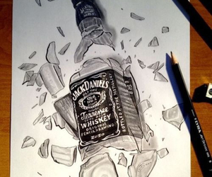 draw, drawing, and jack daniels image