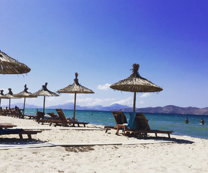 beach, Greece, and tan image
