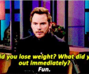 food, fun, and chris pratt image