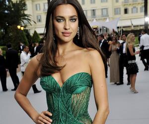 irina shayk, dress, and green image