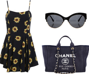 beach, chanel, and dress image