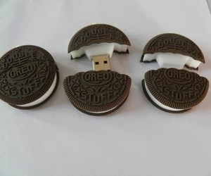 oreo, usb, and food image
