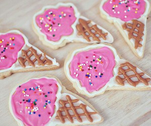 ice cream, food, and Cookies image