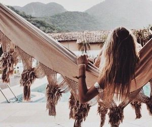 girl, summer, and rose gold image