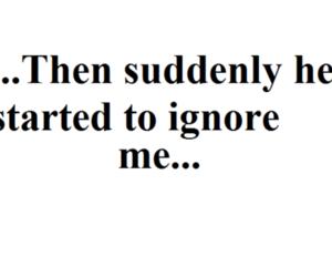 quote, ignore, and sad image