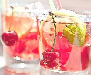 drink, cherry, and summer image