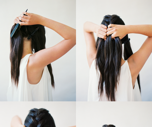 diy, do it yourself, and hairstyle tutorial image