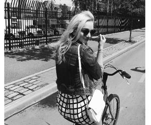 bike, girl, and newyork image