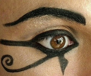 eye liner, fashion, and oeil image