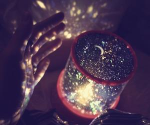 light, stars, and moon image