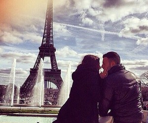 love, couple, and paris image