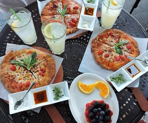 food, pizza, and sweet image
