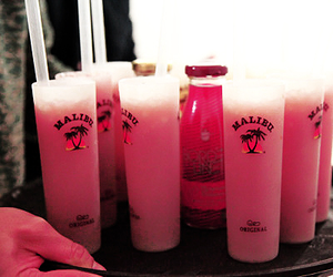 drink, malibu, and pink image