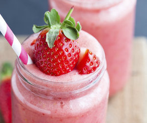 strawberry, food, and drink image