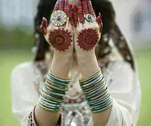 bridal, mehndi, and fashion image