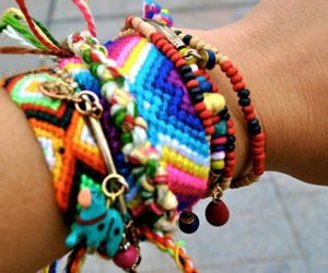 accessories, rainbow, and bracelets image