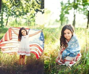 4th of july, little girl, and us image