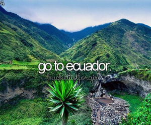 ecuador, bucketlist, and Dream image