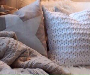 beige, blanket, and cushion image