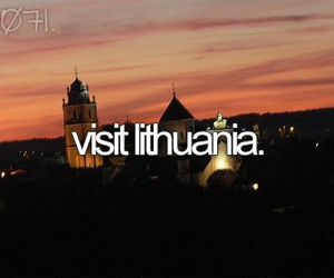 Lithuania, before i die, and europe image
