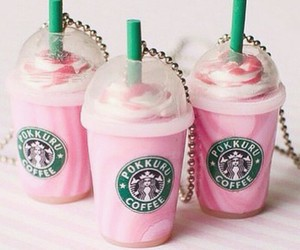 pink, starbucks, and weheartit image