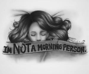 morning, drawing, and sleep image