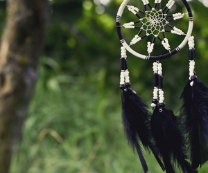 black, dreamcatcher, and fashion image