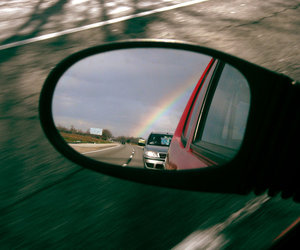 awesome, mirror, and rainbow image