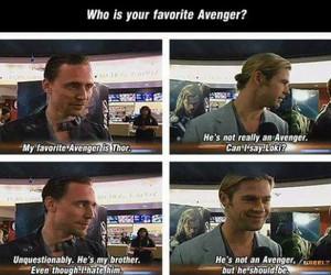 thor, loki, and tom hiddleston image