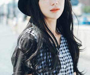 asian fashion, asian girl, and bangs image
