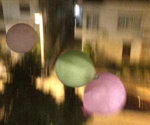 balloons, hipster, and blurry image