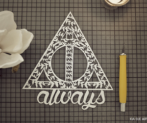 always, harry potter, and Paper image