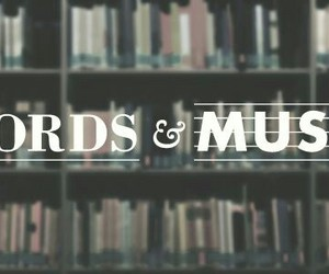 music, book, and words image