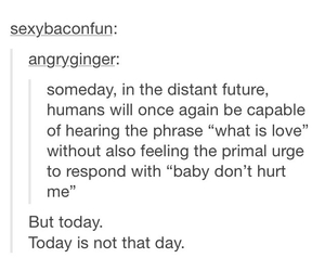 funny, tumblr, and what is love image