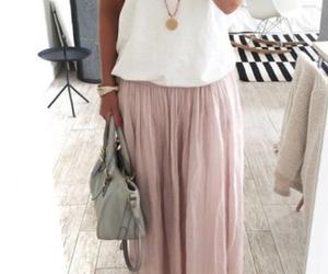 fashion, maxiskirt, and pastel image