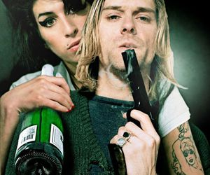 Amy Winehouse, kurt cobain, and amy image