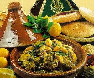 food, morocco, and tajine image