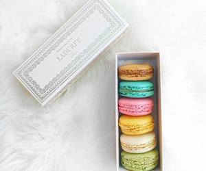 macaroons, food, and white image
