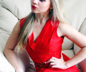 beautiful, blond, and lady image