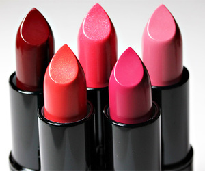 lipstick, pink, and makeup image