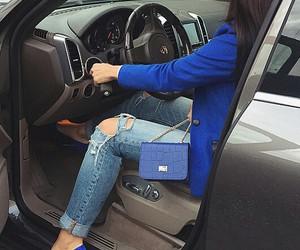car, fashion, and blue image